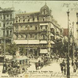 Berlin. - Café Bauer u. Kranzler Ecke.