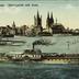 Köln a. Rhein. Rheinpartie mit Dom.