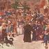 Verkündigung des Westfälischen Friedens i. J. 1648 v. d. Rathause zu Osnabrück. [R]