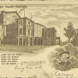Gruss von der Heimat des Parsifal - Richard Wagner Theater Bayreuth.