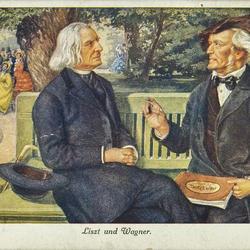 Liszt und Wagner.