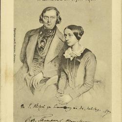 Postkarte zur Einweihung des Robert Schumanndenkmals in Zwickau am 8. Juni 1901