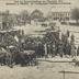 Nach der Russenvertreibung aus Ostpreußen 1915. Marktplatz in Pillkallen. Im Vordergrund Feldbäckerei-Abteilung