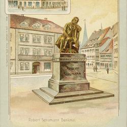 Gruss aus Zwickau - Robert Schumann Denkmal.
